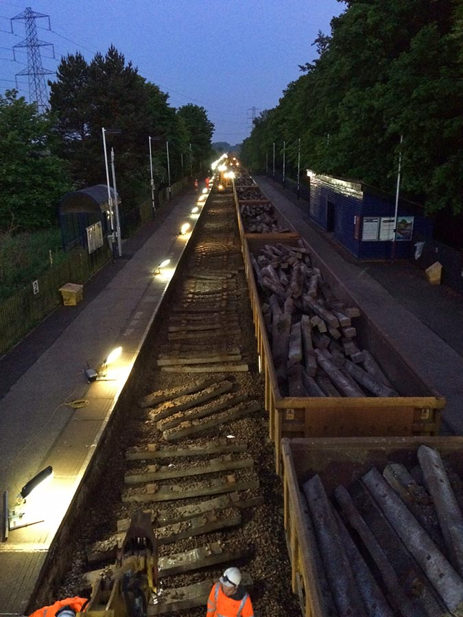 Ecology Link Rail projects nightime track replacement ECoW